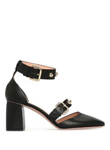 Kalın Topuklu %100 Deri Sandalet-Red Valentino